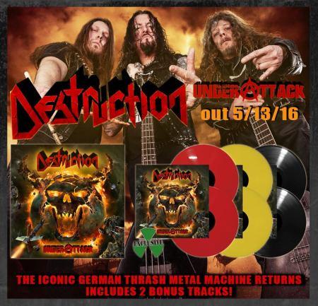 Destruction - Under Attack - promo vinyl flyer - #MO92134ILMFSP