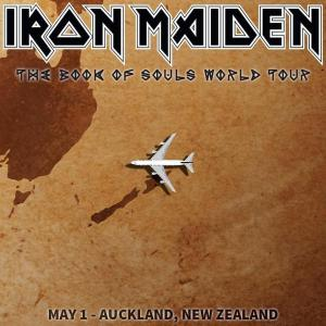 IRON MAIDEN - Auckland New Zealand - 2016 - promo flyer - The Book Of Souls - #MO99909933