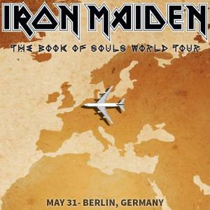 Iron Maiden - May 31 - Berlin Germany - Tour flyer - #MO9966600ILMFO
