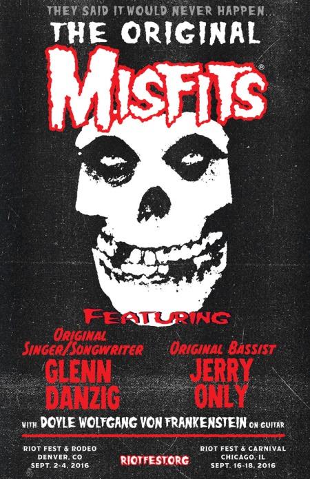 Misfits - Reunite - Riot Fest - 2016 - promo flyer - #MO99099ILMF