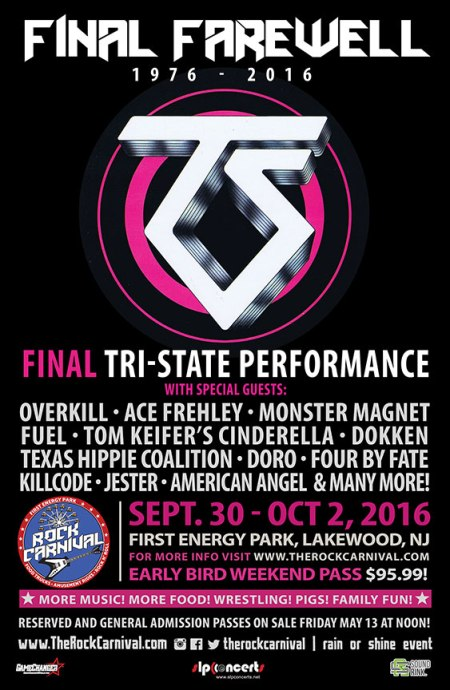 Twisted Sister - Final Farewell - promo concert flyer - 2016 - tri-state concert - #MO899899ILMF