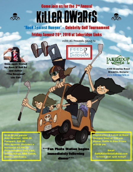 Killer Dwarfs - Charity Golf Tournament - Durham Ontario - 2016 - #MO99933ILMFSO33