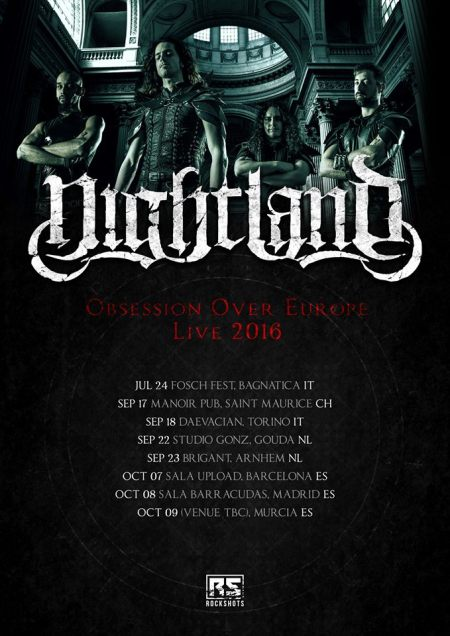 Nightland - Obsession Over Europe - 2016 - promo tour flyer - #MO99ILMFSO333
