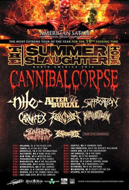 Summer Slaughter Tour - 2016 - promo flyer pic - #MO990993