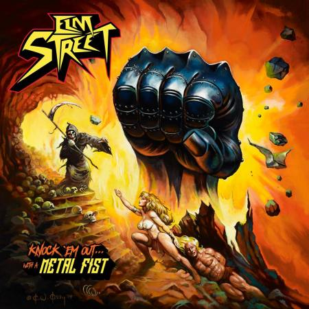 ELM STREET - Knock Em Out With A Metal Fist - promo album cover pic - 2016 - #MO669ILMFNOS