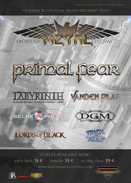 Frontiers Metal Festival - October 30 - 2016 - promo flyer - #MO99966336ILMFSO