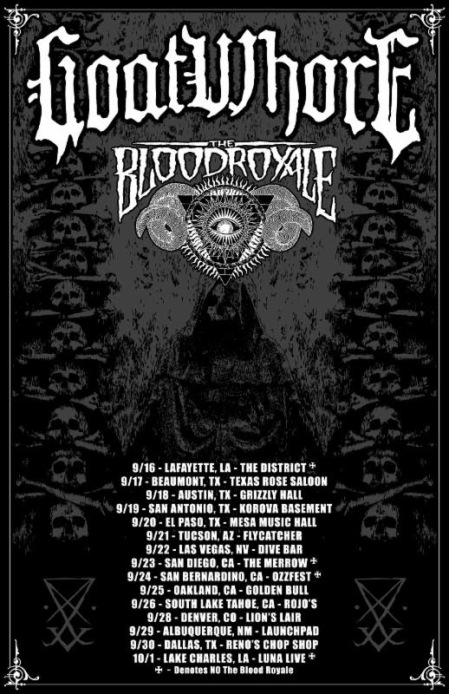 Goatwhore - tour promo flyer - September - 2016 - #MO99663ILMFSO