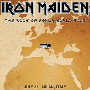 Iron Maiden - Milan Italy - promo flyer - July 22 - 2016 - #MO99ILMFNSO333