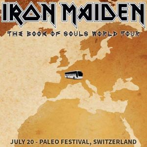 Iron Maiden - Switzerland - July 20 - 2016 - promo flyer - #MO99099ILMFNS