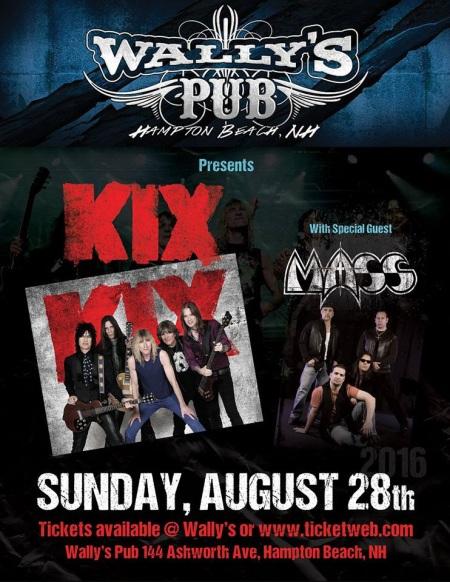 MASS - KIX - promo concert flyer - August 28 - 2016 - #MO99900ILMFNSMS