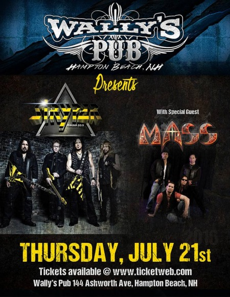 MASS - Stryper - concert flyer - August 21 - 2016 - #MO0099ILMFNG33