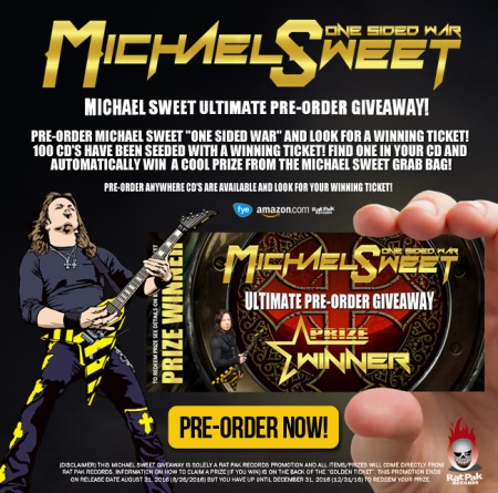 Michael Sweet - One Sided War - ultimate pre order giveaway - promo flyer - One Sided War - 2016 - #MO0999ILMFSO