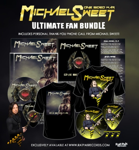 Michael Sweet - Ultimate Fan Bundle - promo flyer - One Sided War - 2016 - #mo99moILMFNSO