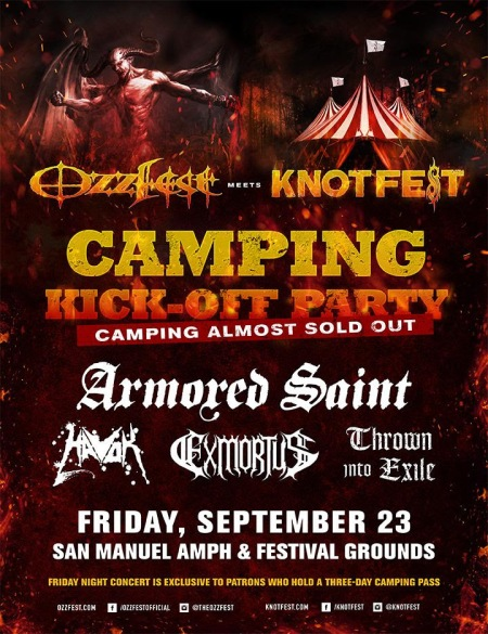Armored Saint - Ozzfest Meets Knotfest - 2016 - promo flyer - #MO33090ILMFNSMSO