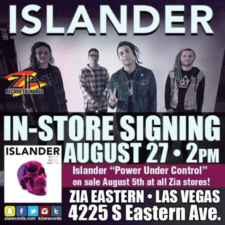 Islander - in store signing flyer - las vegas - august 27 - #MO99ILMNGSO3