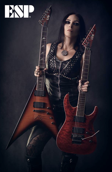 Marta Gabriel - ESP Guitars - promo photo - 2016 - #33ILMFSO99393