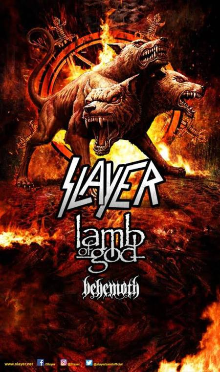 SLAYER – Headlining Tour With LAMB OF GOD And BEHEMOTH Begins July 12th!