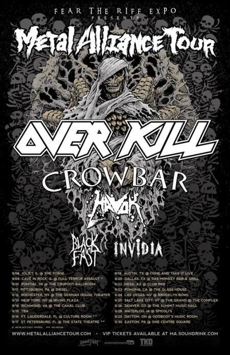 OVERKILL - Metal Alliance Tour - September 2017 - promo flyer - #MO33373