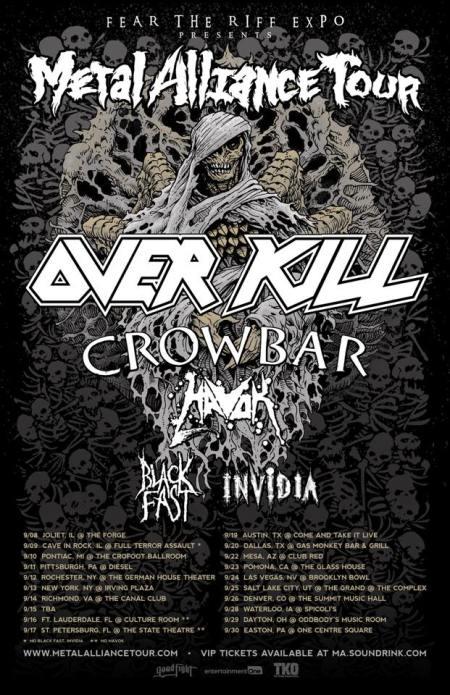 OVERKILL - Metal Alliance Tour - September 2017 - promo flyer - #MO33373