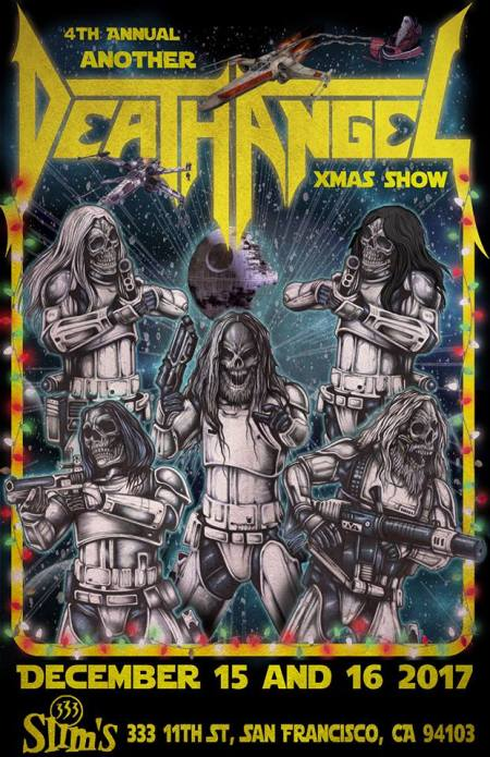 Death Angel - Xmas Show - 2017 - promo flyer - #33MO7733