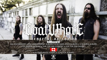 Goatwhore - Vengeful Ascension - album chart - Billboard - flyer - 2017 - #33MO6336