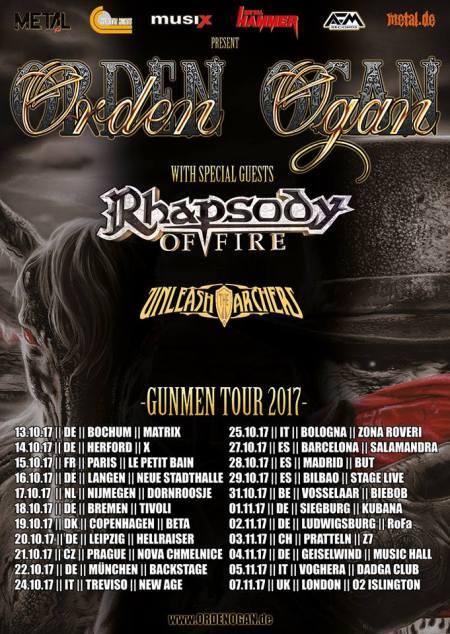 Orden Ogan - Gunmen Tour 2017 - tour flyer - #33MO73ILMFSO3