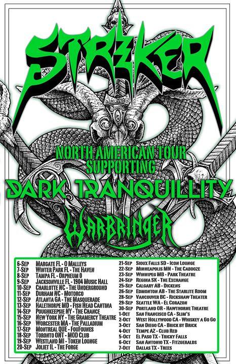 Striker - Dark Tranquility - Warbringer - 2017 tour flyer - #333MO77799ILMN