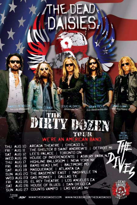 The Dead Daisies - American Tour - August 2017 - #33MO99ILMFSO33