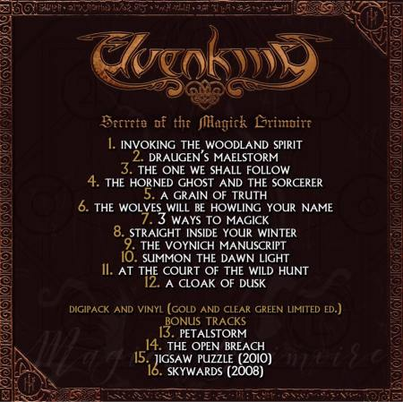 Elvenking - Secrets Of The Magick Grimoire - track list - 2017 - #339ILMN33MO3