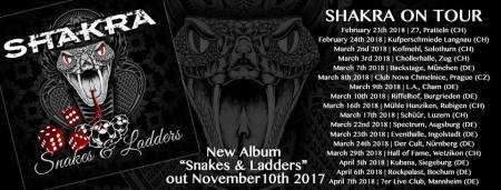 Shakra - Snakes and Ladders - album - tour promo banner - 2017 - #333MO99ILMFSO3