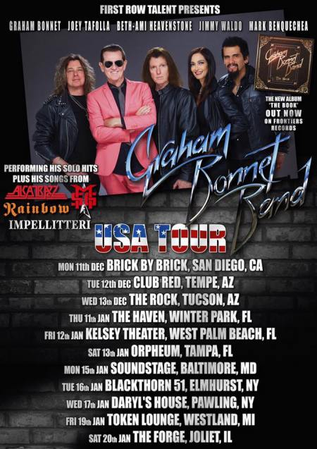 Graham Bonnett Band - USA Tour flyer - 2016 - #444ILMFSO33MO33