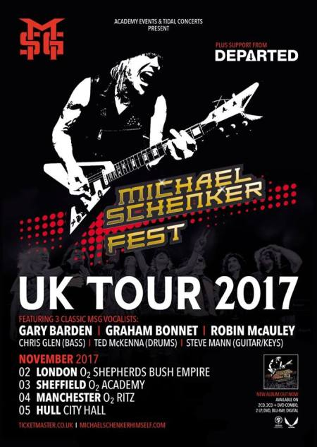 Michael Schenker Fest - promo tour flyer - November 2017 - #33MO7ILMFSO33