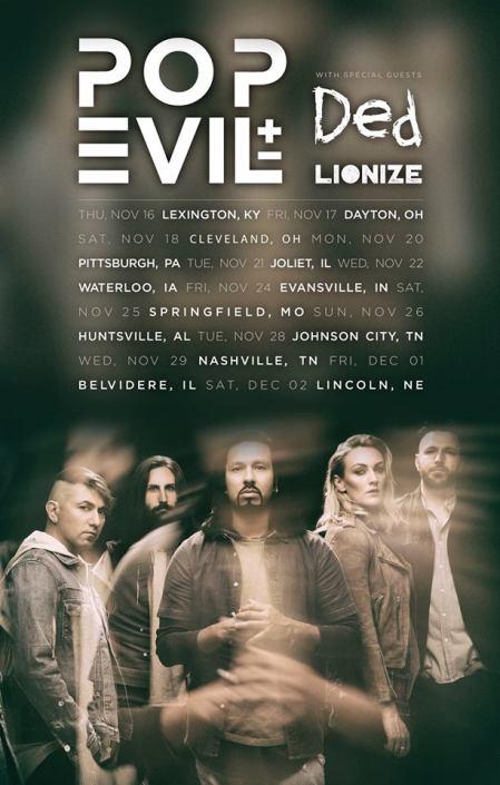 POP EVIL - 2017 tour flyer - midwest - #33MO33ILMFSO7