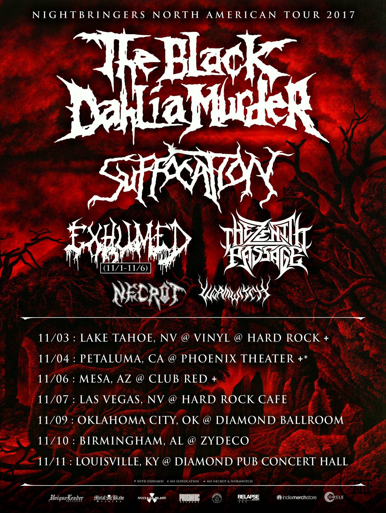The Black Dahlia Murder November 2017 Tour Dates Metal