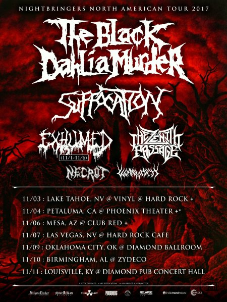 The Black Dahlia Murder - November Tour Flyer - 2017 - #3MO33ILMFSO77