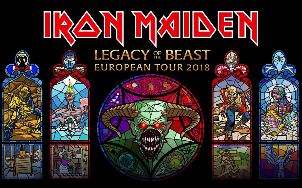 IRON MAIDEN - Legacy of the Beast European Tour - 2018 - promo flyer - #MO3399ILMFSO