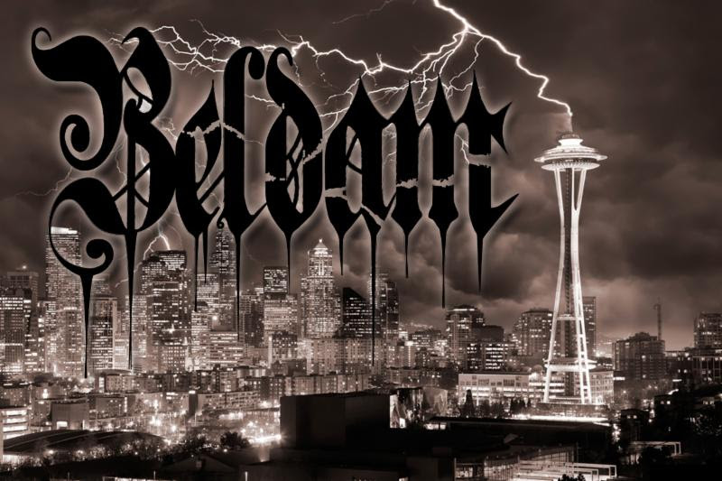 BELDAM - band logo banner - 2017 - #4343MO099ILMN