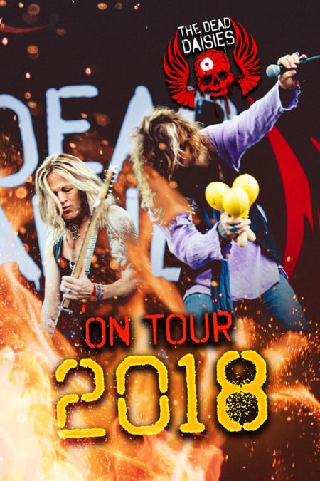The Dead Daisies - Tour 2018 promo flyer - #33MO777ILMNSO