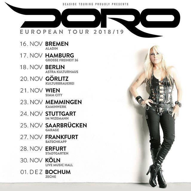 DORO - 2018 European Tour Flyer - #33ILMNSOG777