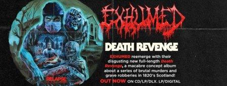 Exhumed - Death Revenge - promo album banner - 2017 - #3333MO33ILMG