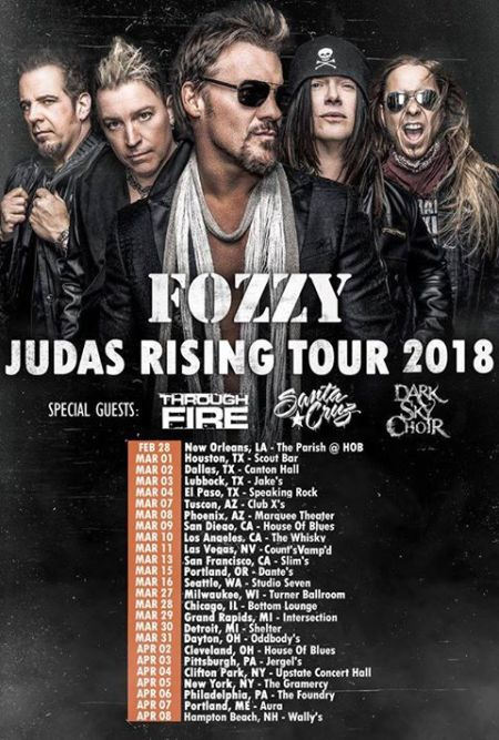 Fozzy - Winter Tour promo flyer - 2018 - #33MO99ILMN