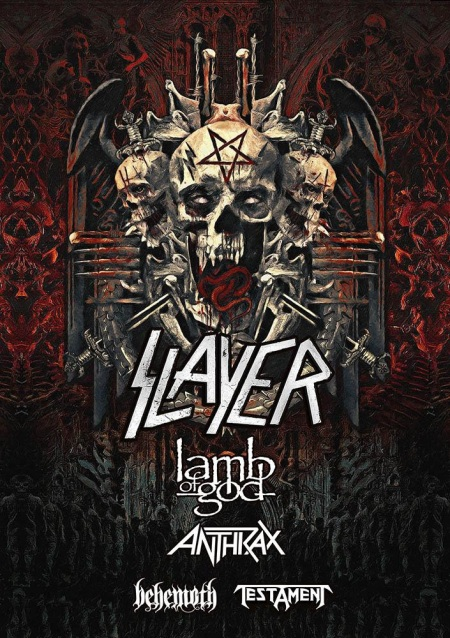 SLAYER - Lamb Of God - Anthrax - Behemoth - tour flyer - 2018 - #333MO8383ILMNTG
