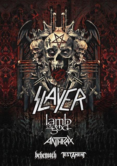 SLAYER - Lamb Of God - Anthrax - Behemoth - tour flyer - 2018 - #333MO8383ILMNTG