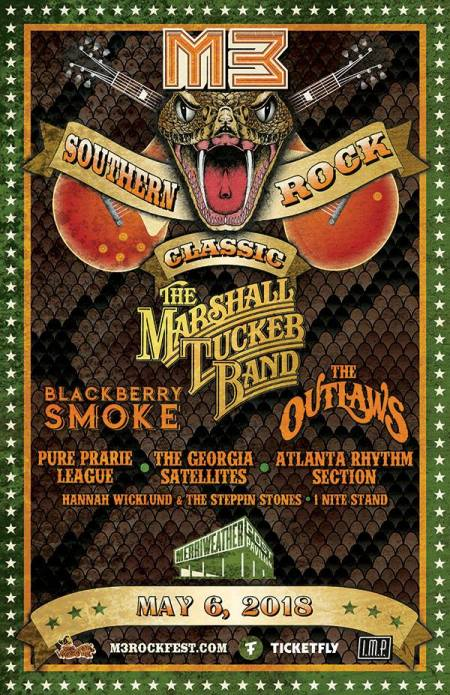 M3 Southern Rock Classic - 2018 - promo event flyer - #333MO0909ILMNDSO