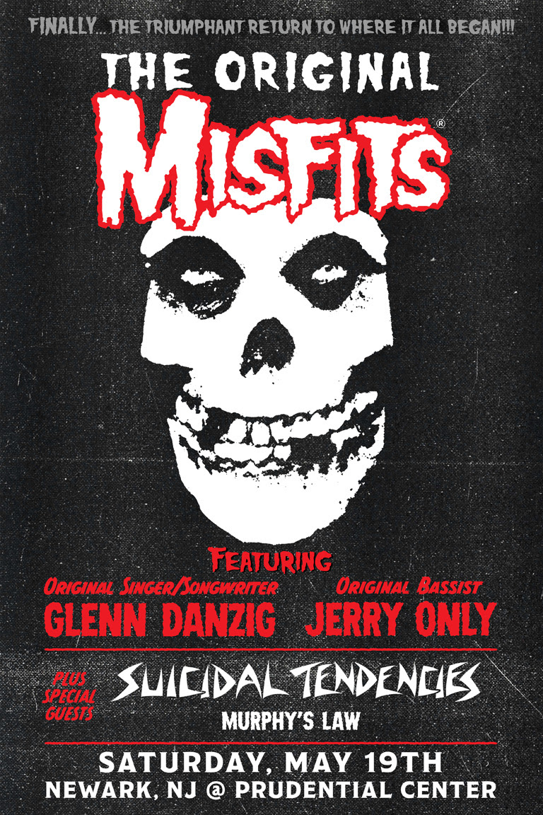 MISFITS - promo concert flyer - May 19 - 2018 - #333MO333