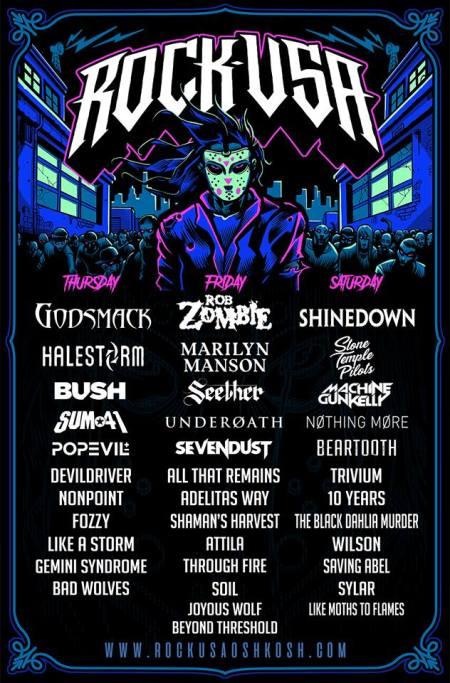 Rock USA - festival promo flyer - 2018 - #22MO333ILMNDSO333