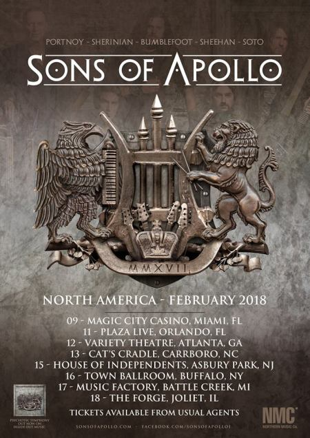 Sons Of Apollo - 2018 - February Tour flyer - #33MO9339