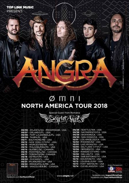 Angra - North American Tour - promo flyer - #33MO999ILG