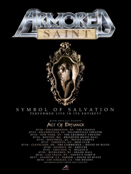 Armored Saint - Summer 2018 - tour flyer - #333MO222ILMFG103