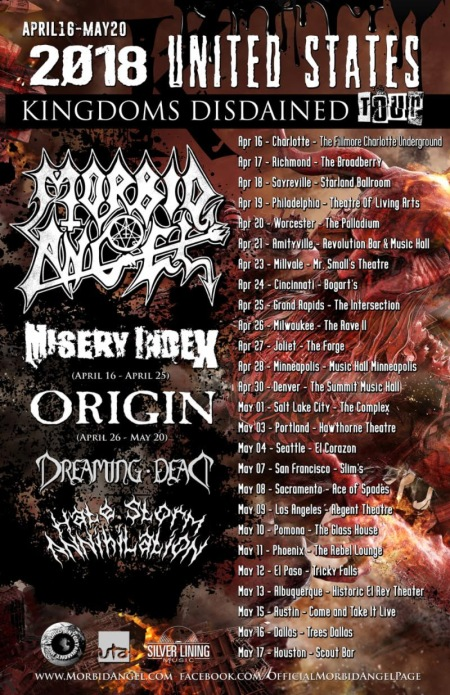 Morbid Angel - 2018 - tour flyer - spring - #MO33333